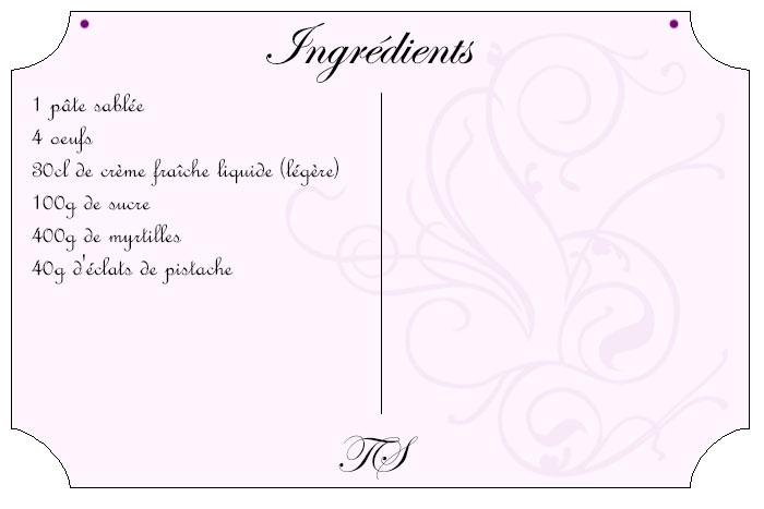 Tarte clafoutis aux myrtilles