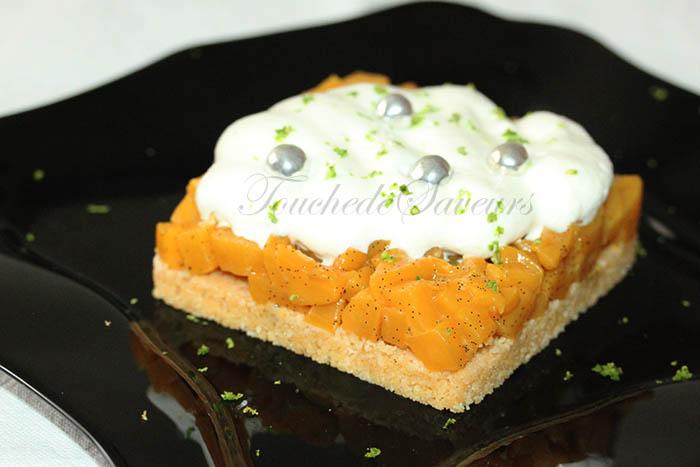 Tarte mangue caramélisée2