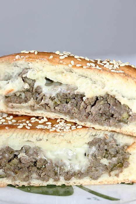 Tresse viande hachée courgette mozzarella1