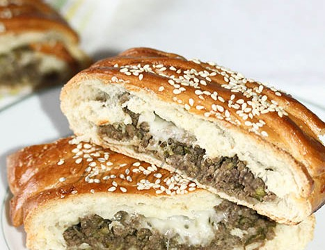 Tresse viande hachée courgette mozzarella2