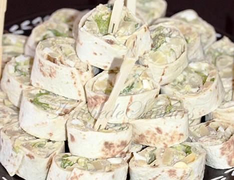 Wraps thon, pomme de terre, câpres