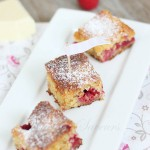 Blondies framboise chocolat blanc