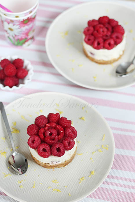 Cheesecake sans cuisson citron framboise