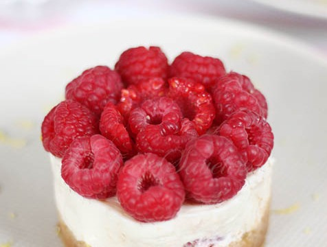Cheesecake sans cuisson citron framboise1