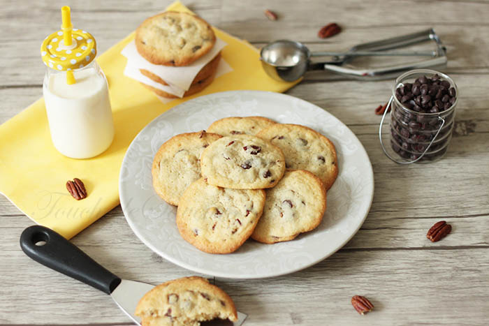 Cookies aux pépites de chocolat noir et noix de pecan