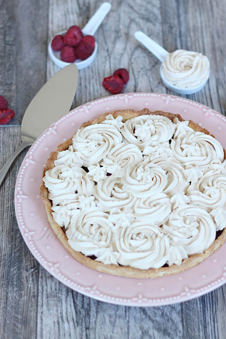 Tarte framboises chantilly speculoos
