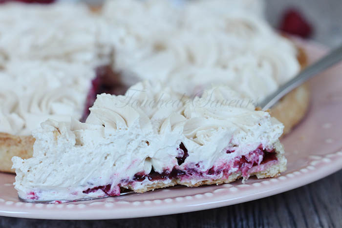 Tarte framboises chantilly speculoos1