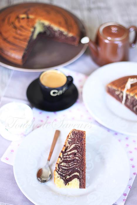 Zebra cake yaourt grec