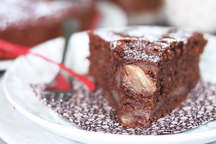 Gâteau moelleux poire chocolat2