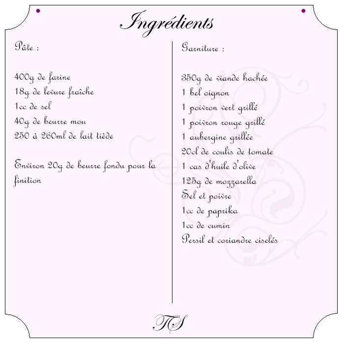 Galettes turques farcies viande, poivron, aubergine, mozzarella