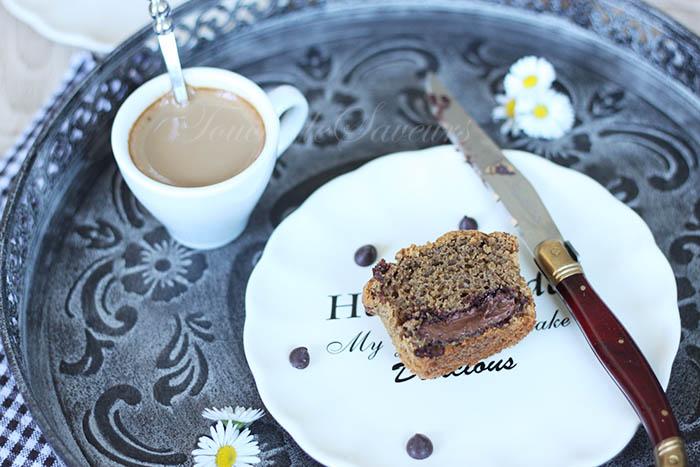 Muffins café coeur nutella3