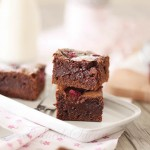 Brownies chocolat framboises1