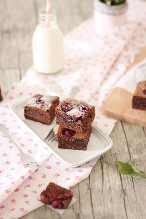 Brownies chocolat framboises2