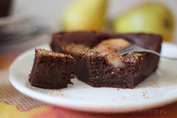 gateau moelleux au chocolat poire secrets culinaires g teaux et p tisseries blog photo. Black Bedroom Furniture Sets. Home Design Ideas