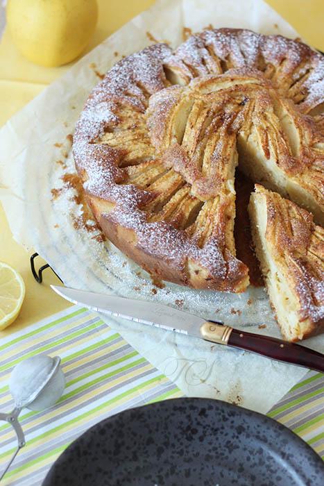 Gâteau léger pommes citron cannelle