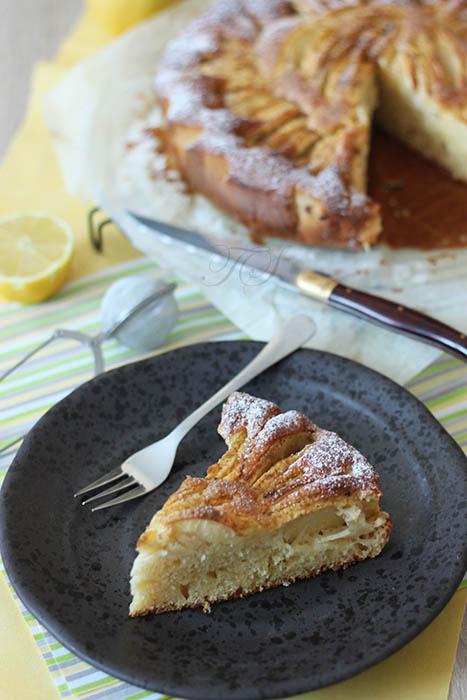 Gâteau léger pommes citron cannelle2
