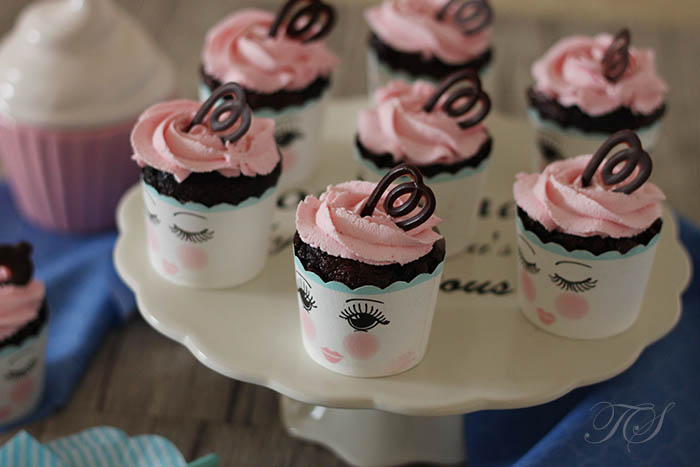 Cupcakes chocolat chantilly rose mascarpone2