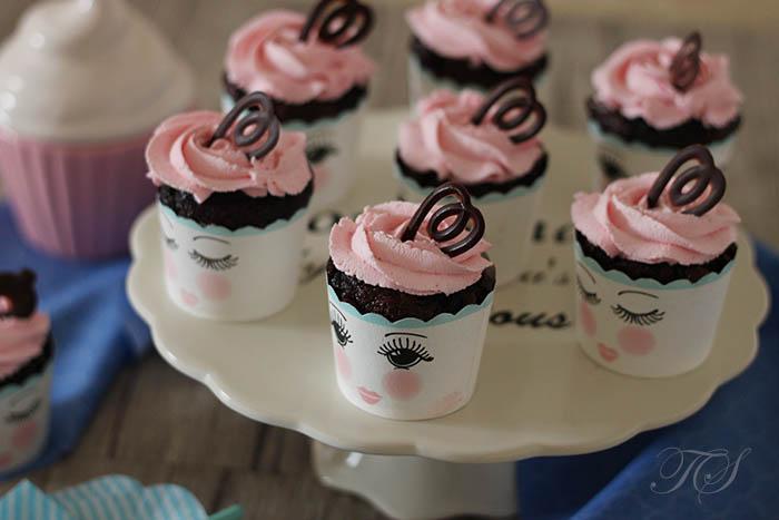 Cupcakes chocolat chantilly rose mascarpone2