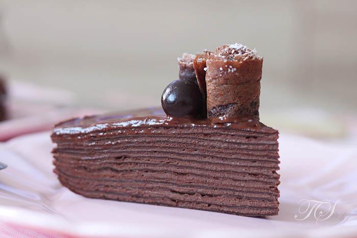 Gâteau de crêpes tout chocolat3