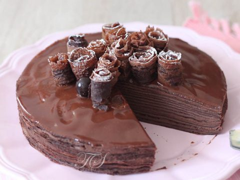 Gâteau de crêpes tout chocolat4